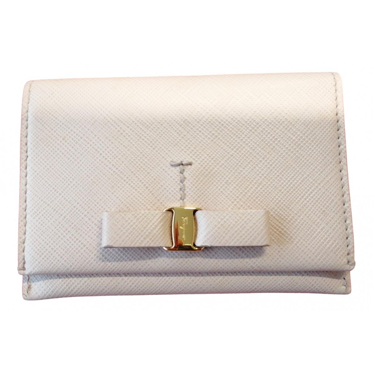 Salvatore Ferragamo \N Pink Leather Purses, wallet & cases for Women \N