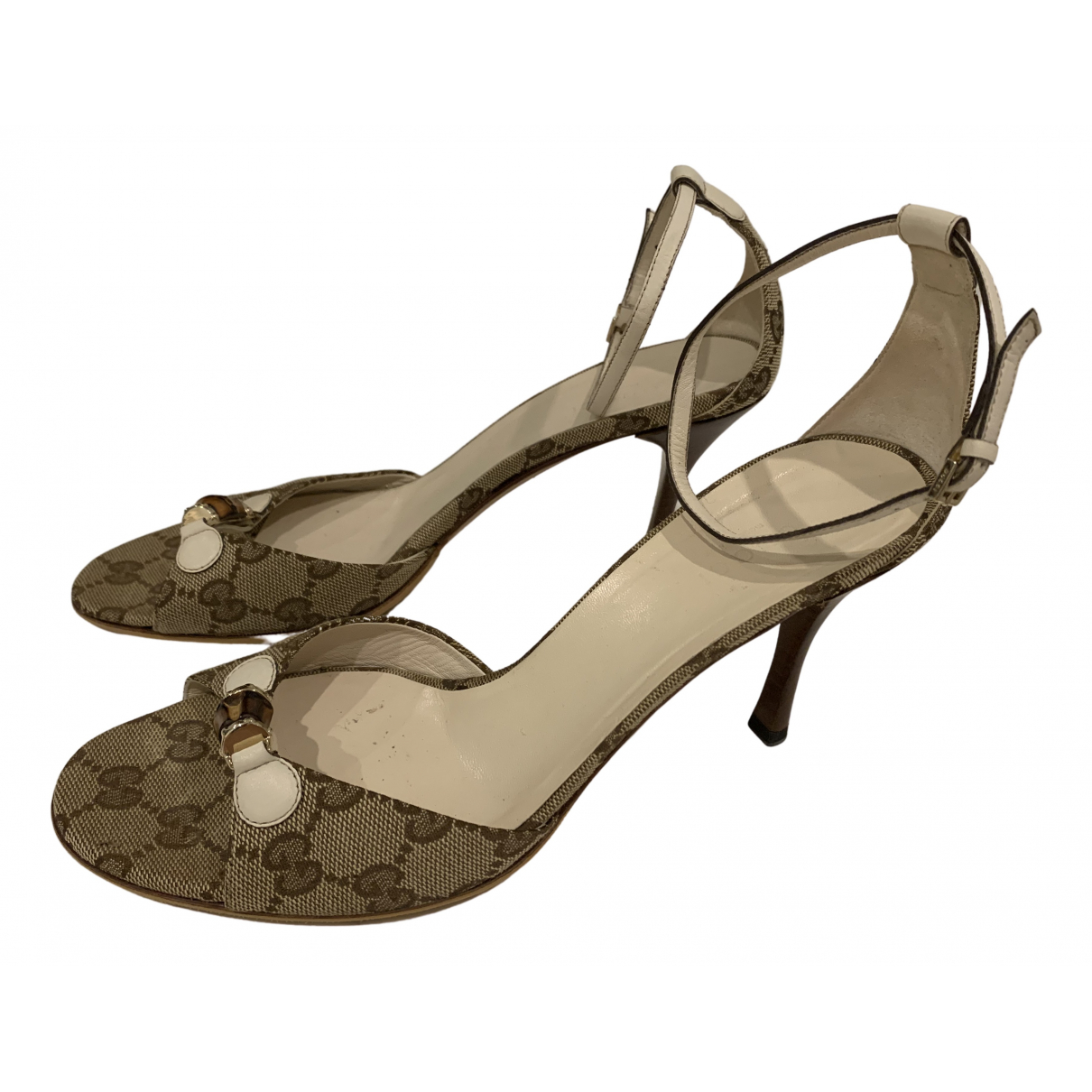 Gucci \N Beige Cloth Sandals for Women 38 EU
