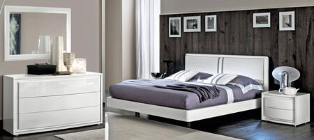 Dama Bianca DAMABIANCABEDKS-2NSDRMR 5-Piece Bedroom Set with King Size Bed  2 Nightstands  Dresser and Mirror in