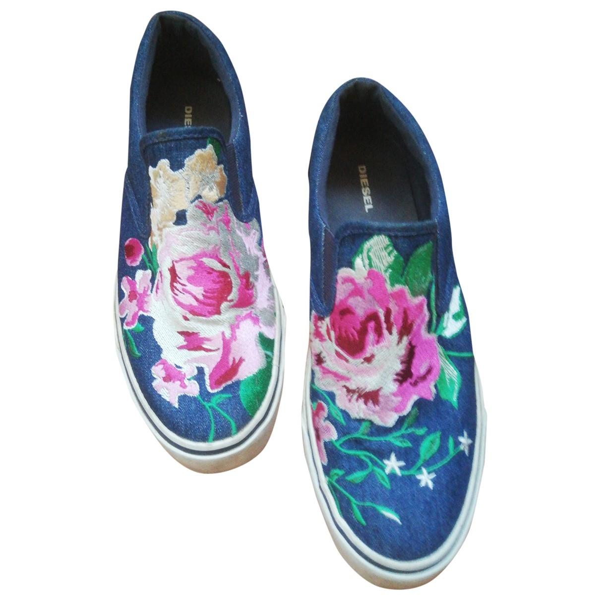 Diesel \N Sneakers in  Blau Leinen