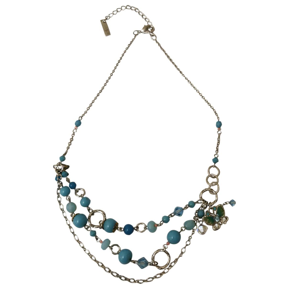 Anna Sui - Collier   pour femme en metal - bleu