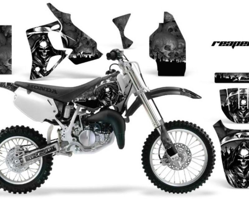 AMR Racing Dirt Bike Graphics Kit MX Decal Wrap For Honda CR80 CR 80 1996-2002 REAPER BLACK