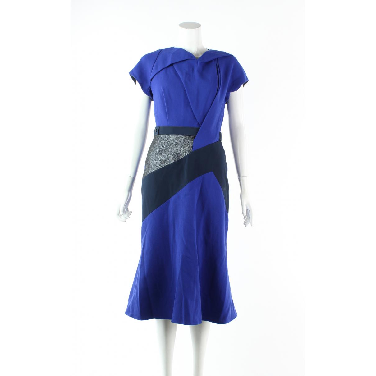 Peter Pilotto \N Kleid in  Blau Wolle