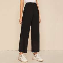 Pocket Side Wide Leg Pants