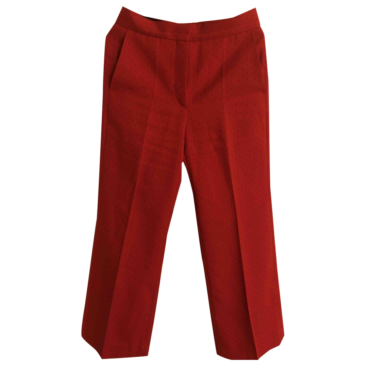 Sandro Fall Winter 2019 Red Trousers for Women 36 FR
