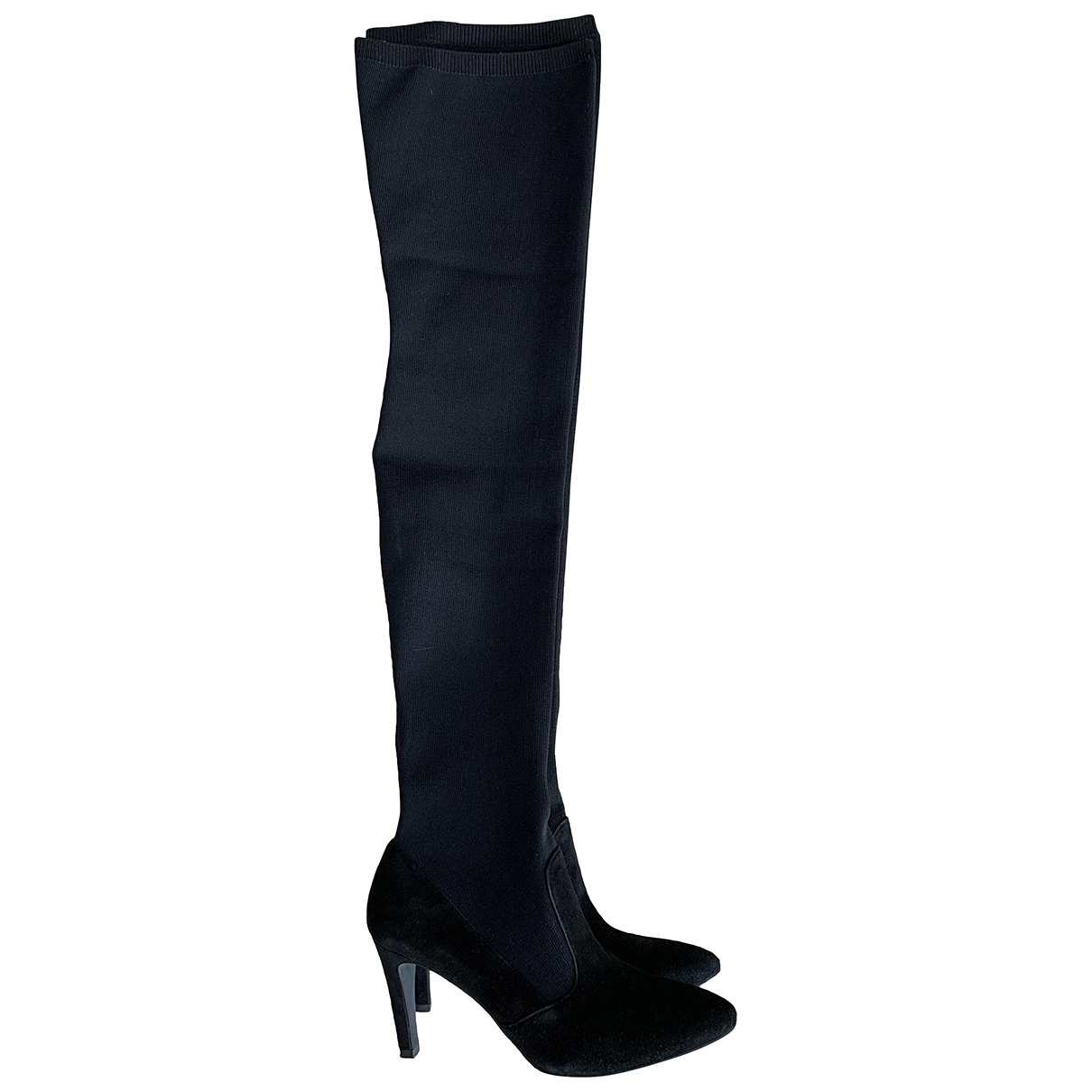 Marcel Ostertag \N Black Suede Boots for Women 39 EU