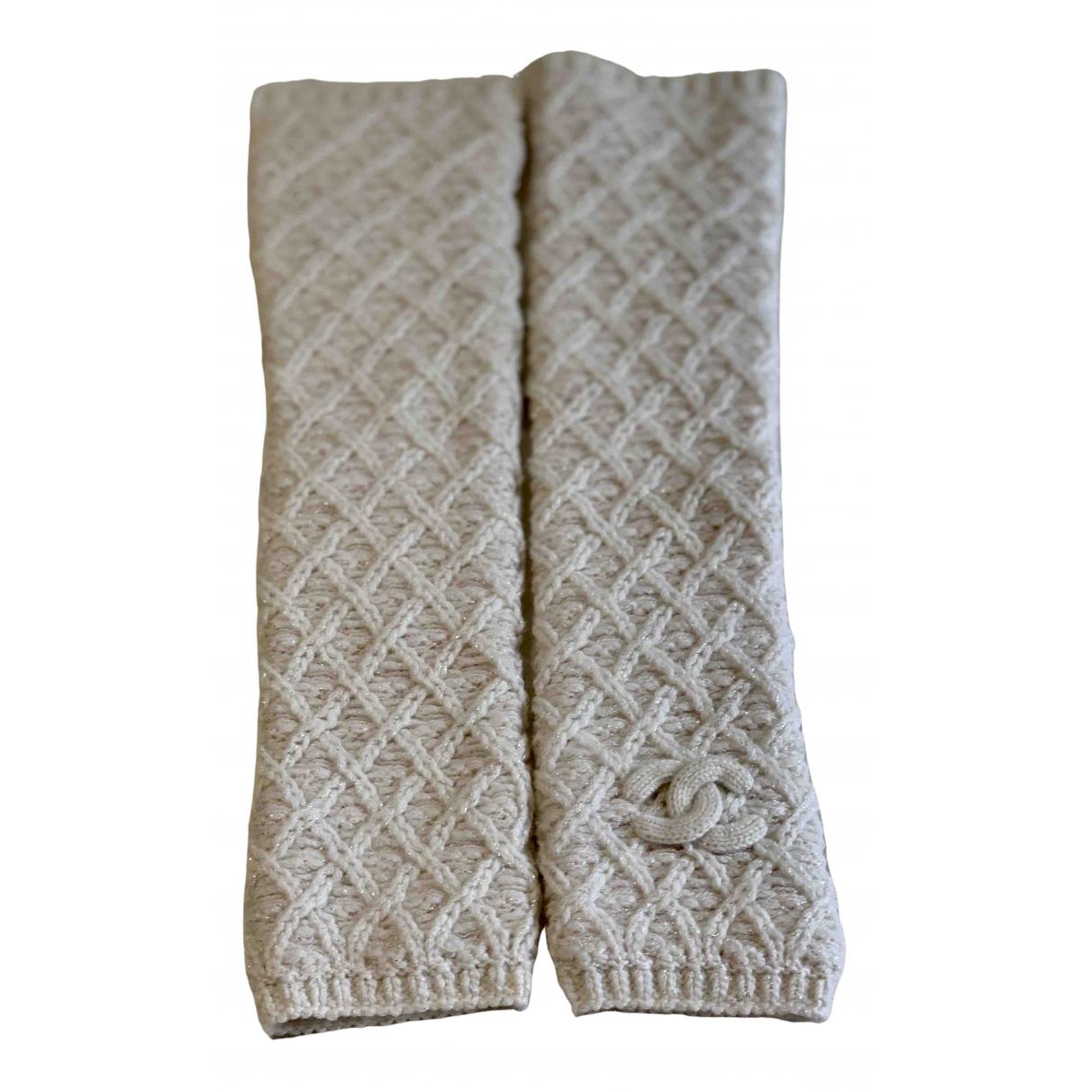 Chanel - Gants   pour femme en laine - beige