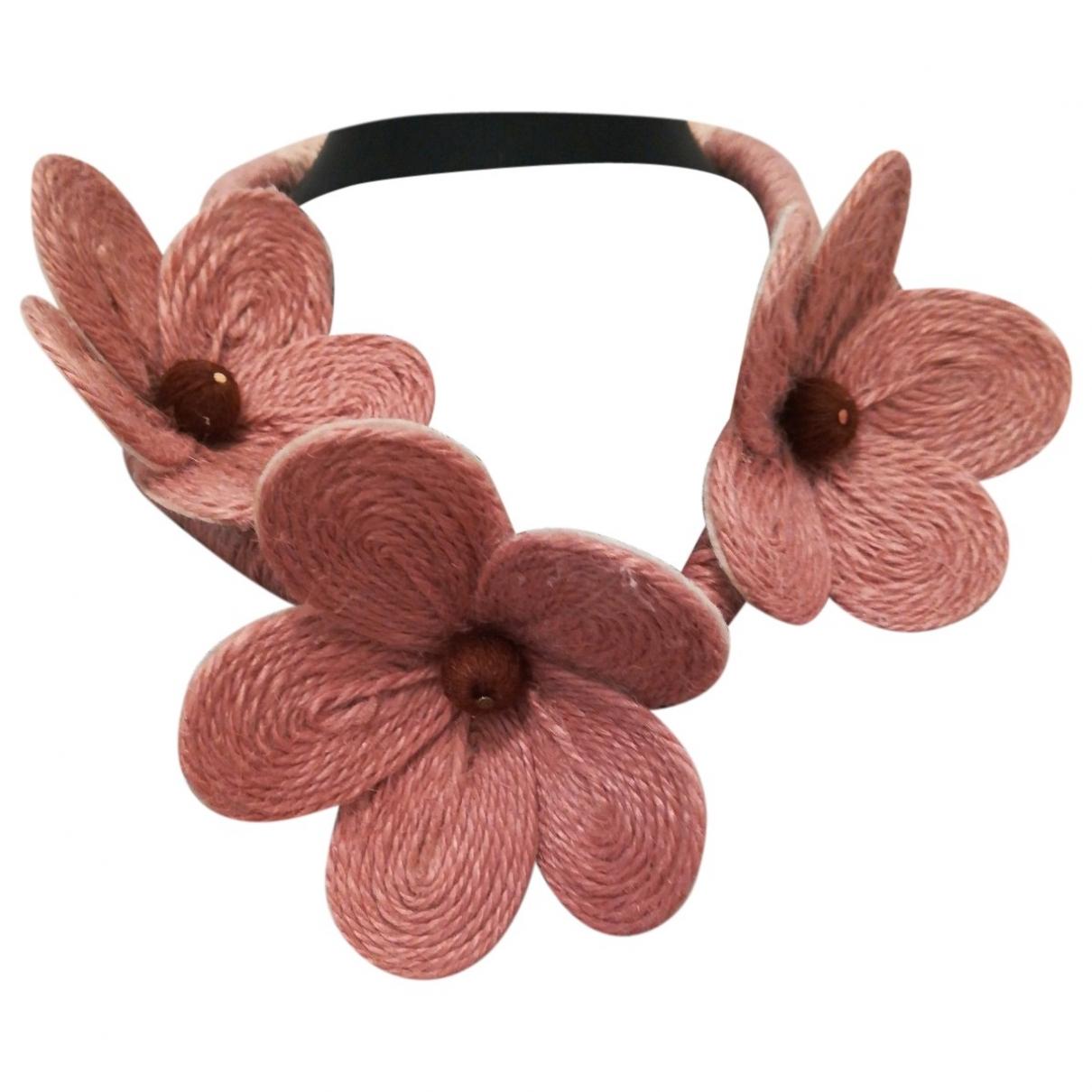Collar Motifs Floraux de Lona Non Signe / Unsigned
