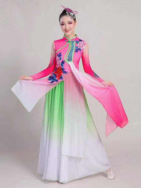 Milanoo Disfraz Halloween Disfraces chinos para mujeres Vestidos de baile asiatico Disfraces de carnaval Halloween