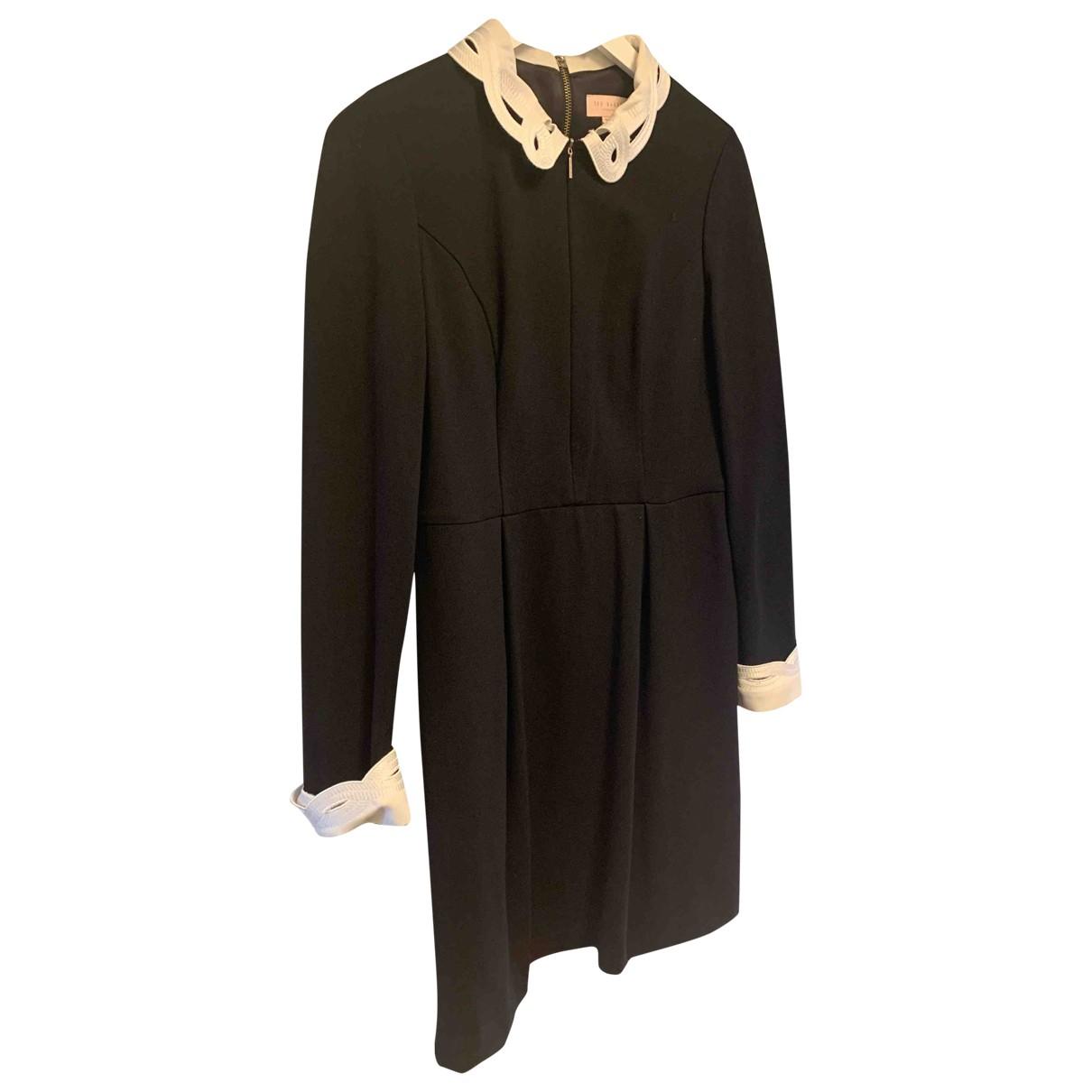 Ted Baker \N Kleid in  Schwarz Viskose