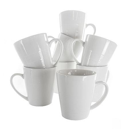 Elama Amie 8-pc. Coffee Mug, One Size , White