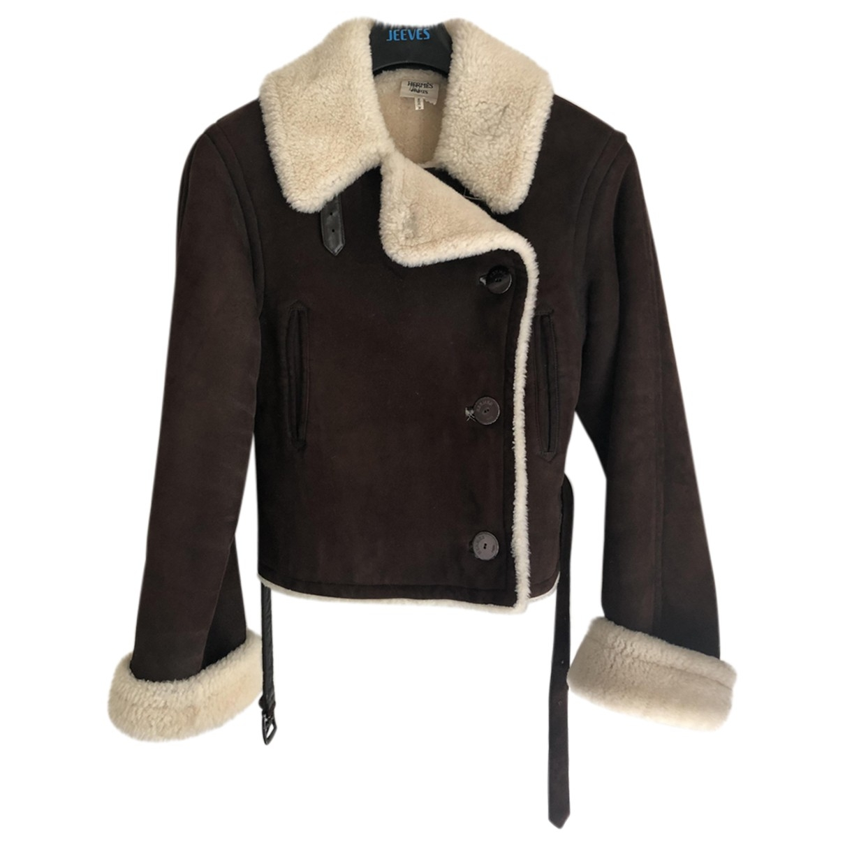Hermès \N Brown Shearling Leather jacket for Women 36 FR