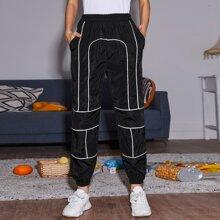 Slant Pocket Elastic Waist Sweatpants
