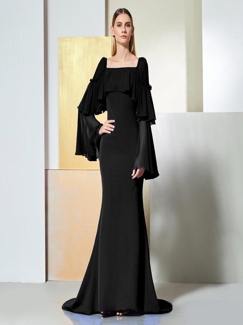 Ericdress Long Sleeve Mermaid Evening Dress With Court Train