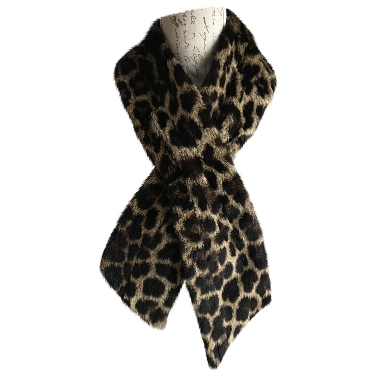 Non Signé / Unsigned \N Multicolour Fur scarf for Women \N