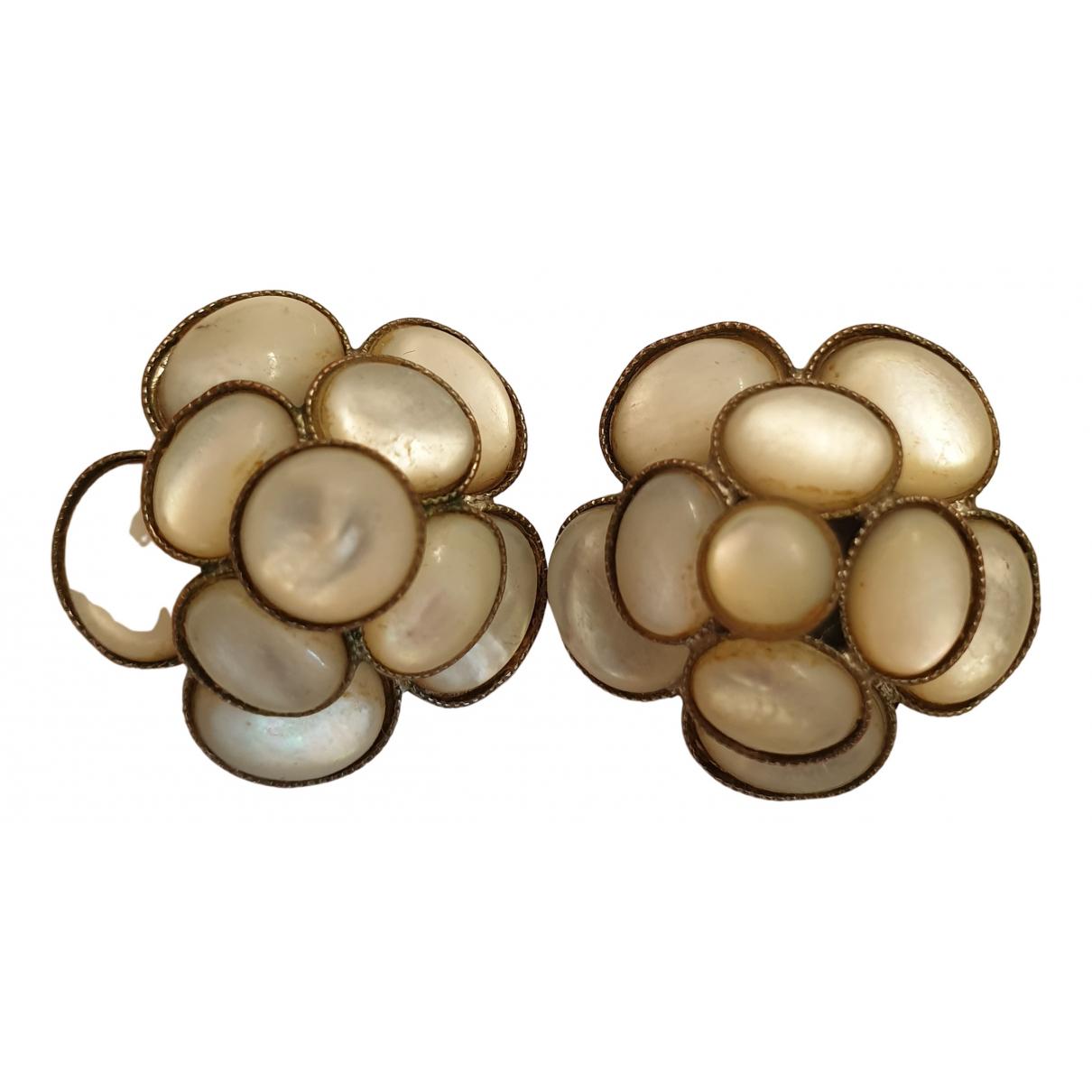 Philippe Ferrandis \N White Metal Earrings for Women \N