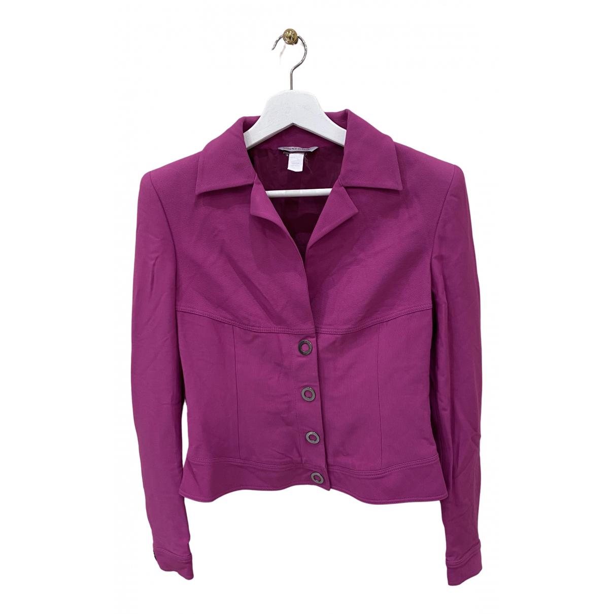 Versace N Purple jacket for Women 42 IT