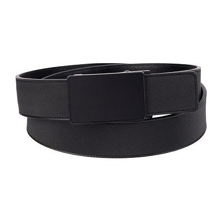 JF J.Ferrar Track Lock Men's Belt with Plaque Buckle, Large , Black