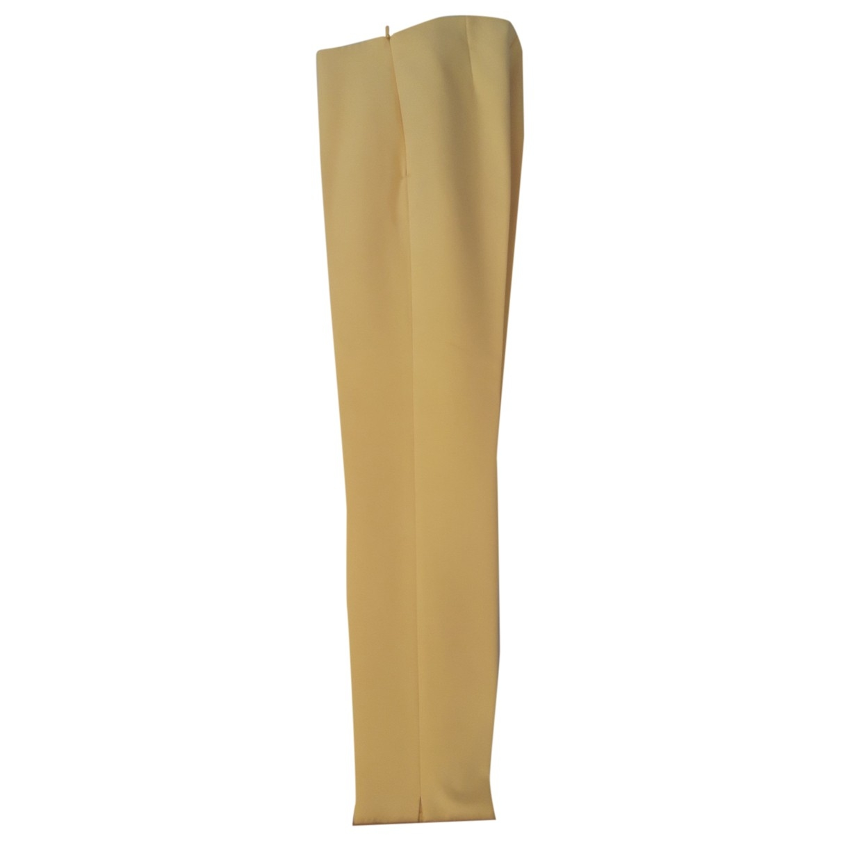 Non Signé / Unsigned \N Yellow Trousers for Women 42 IT