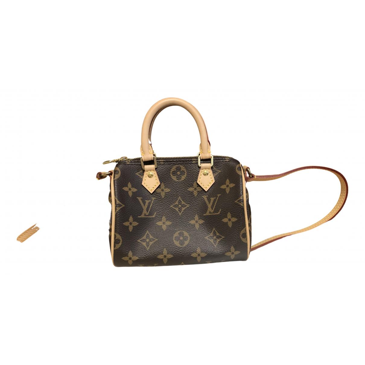 Louis Vuitton - Sac a main Nano Speedy / Mini HL pour femme en toile - marron