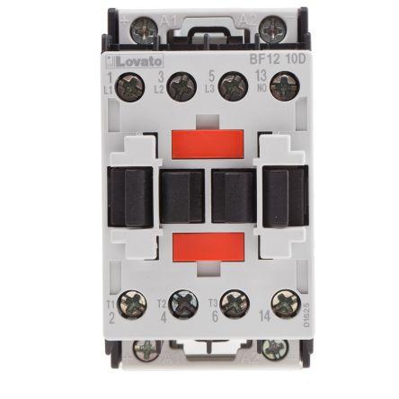 Lovato 3 Pole Contactor - 12 A, 24 V dc Coil, Orange, 3NO, 5.5 kW