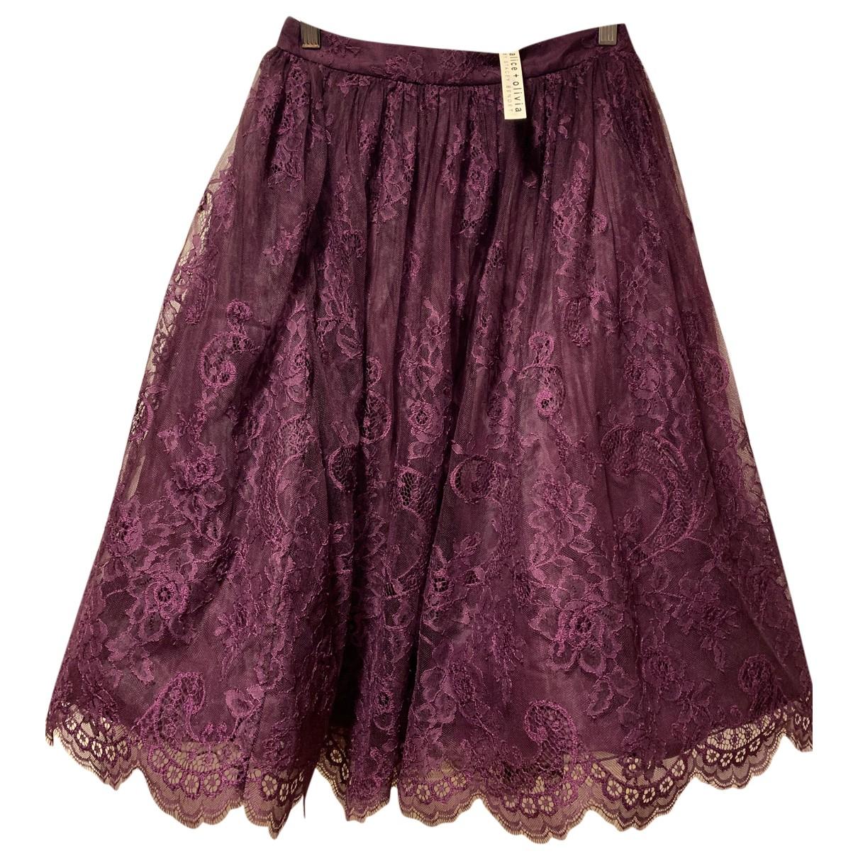 Alice & Olivia - Jupe   pour femme - violet