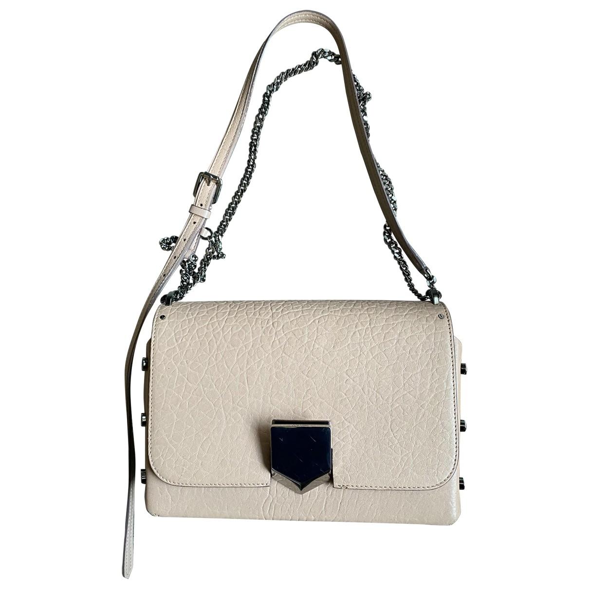 Jimmy Choo Lockett Handtasche in  Rosa Leder