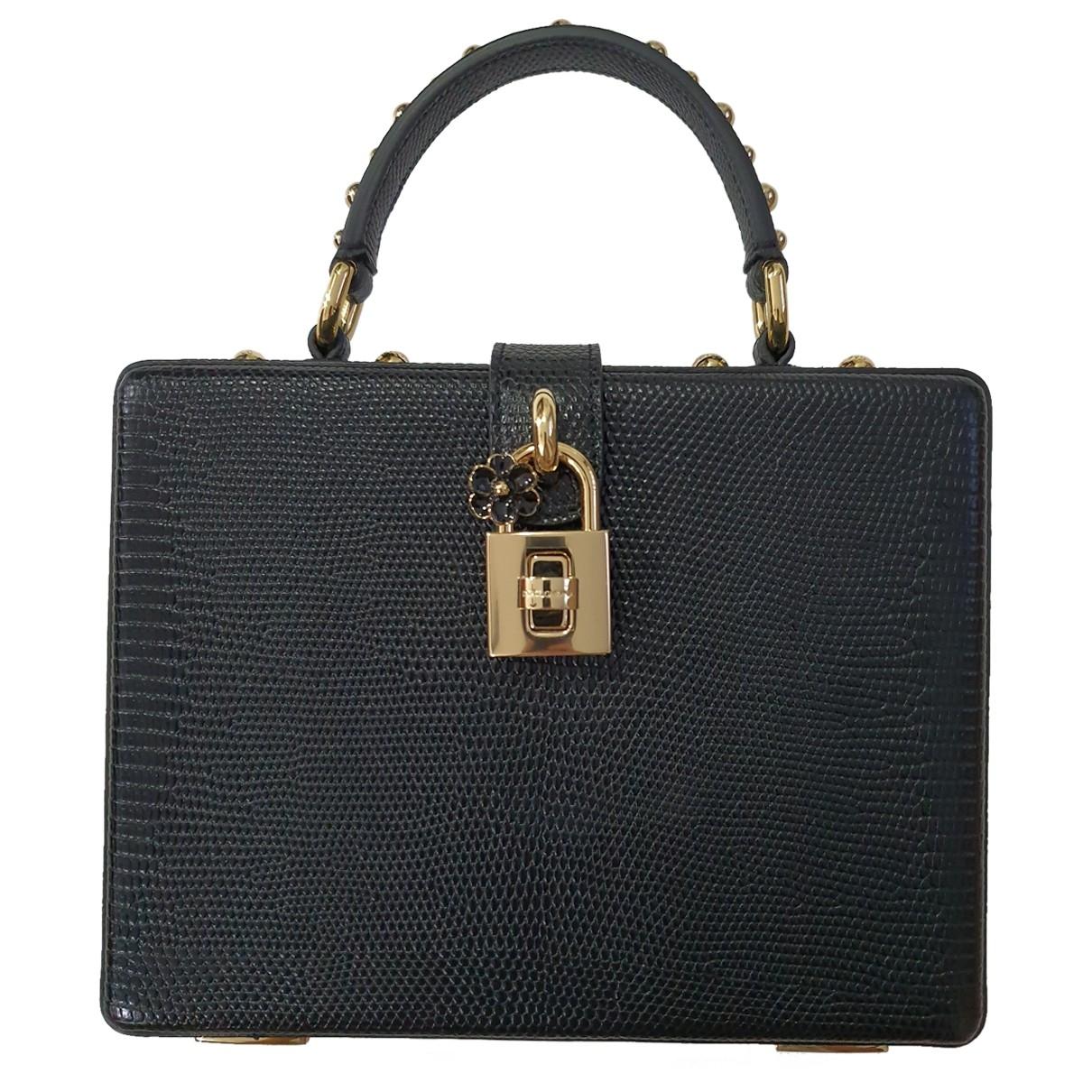 Dolce & Gabbana - Sac a main   pour femme en cuir - noir