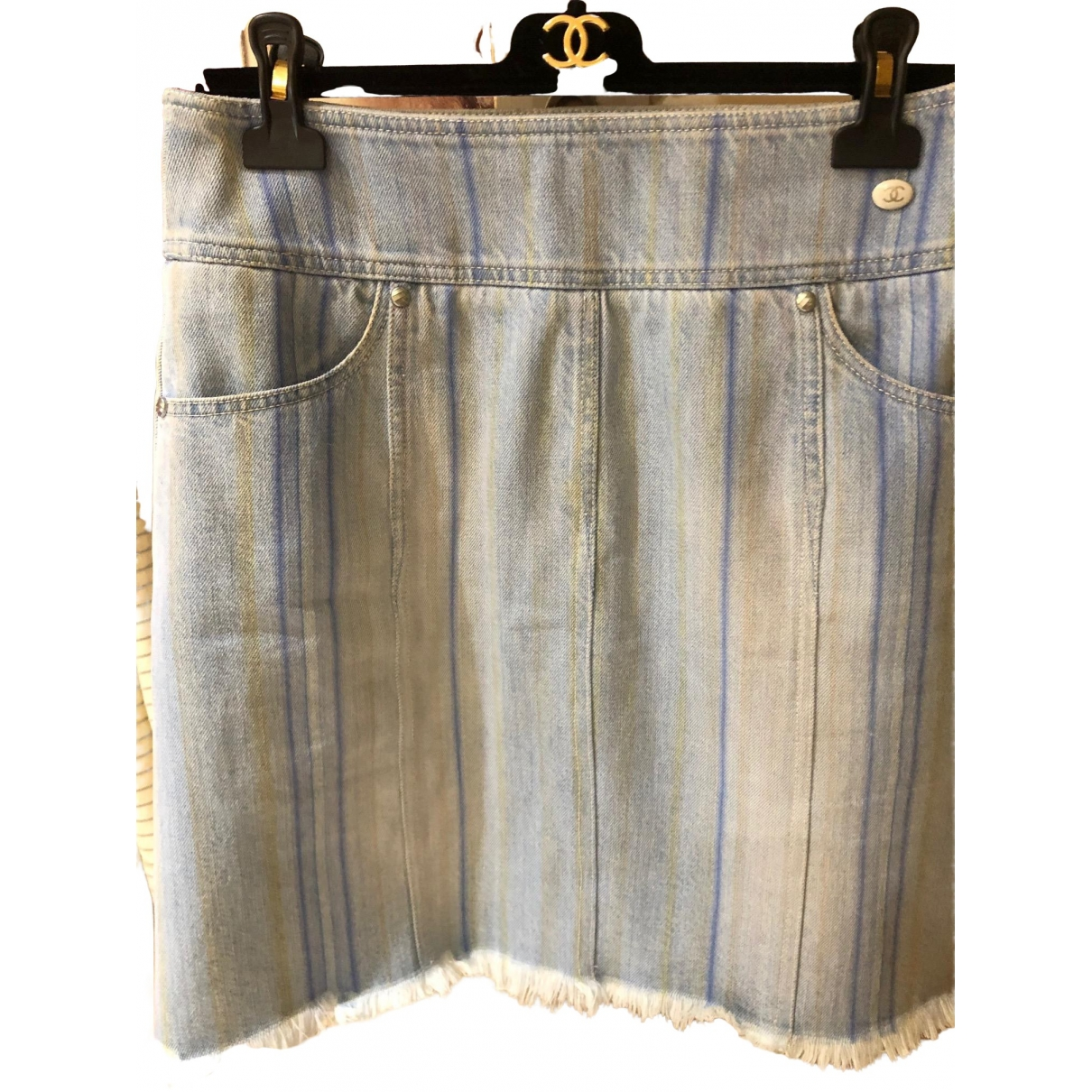 Chanel \N Blue Cotton skirt for Women 40 FR