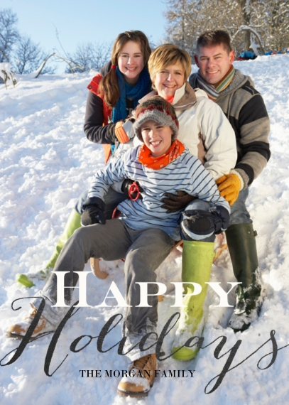 Holiday Photo Cards 5x7 Cards, Premium Cardstock 120lb with Rounded Corners, Card & Stationery -Holiday Handwriting