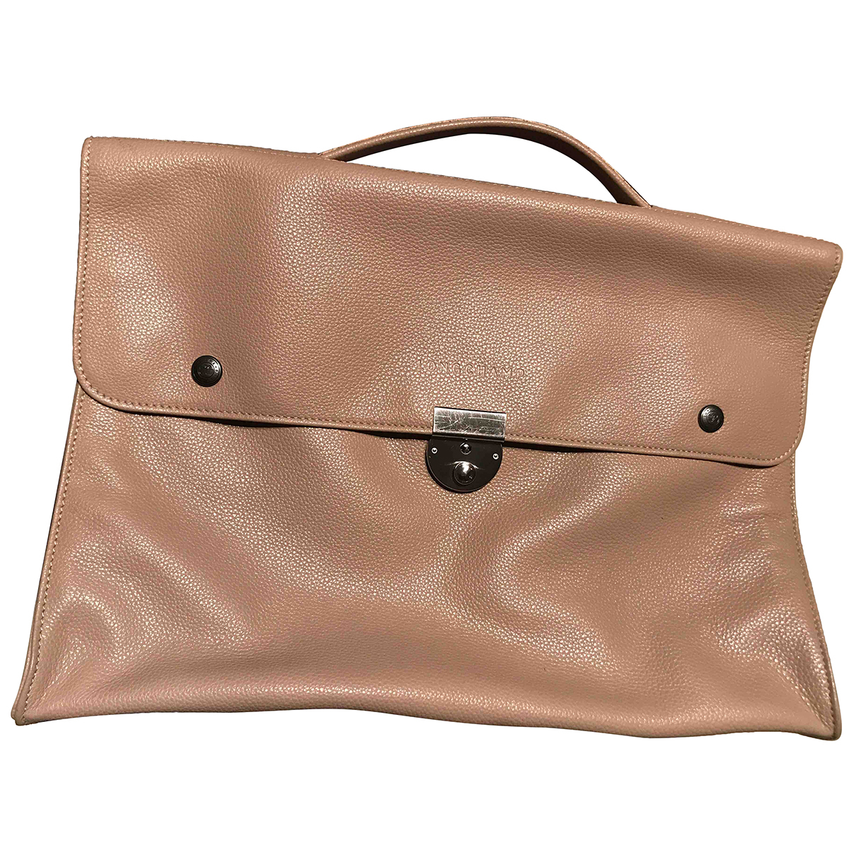 Longchamp N Beige Leather bag for Men N