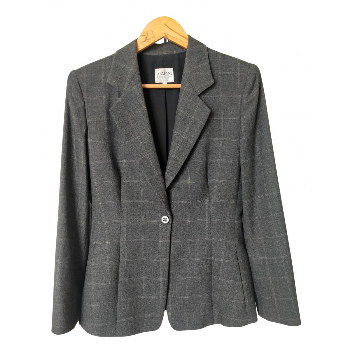 Armani Collezioni - Veste   pour femme en laine - gris