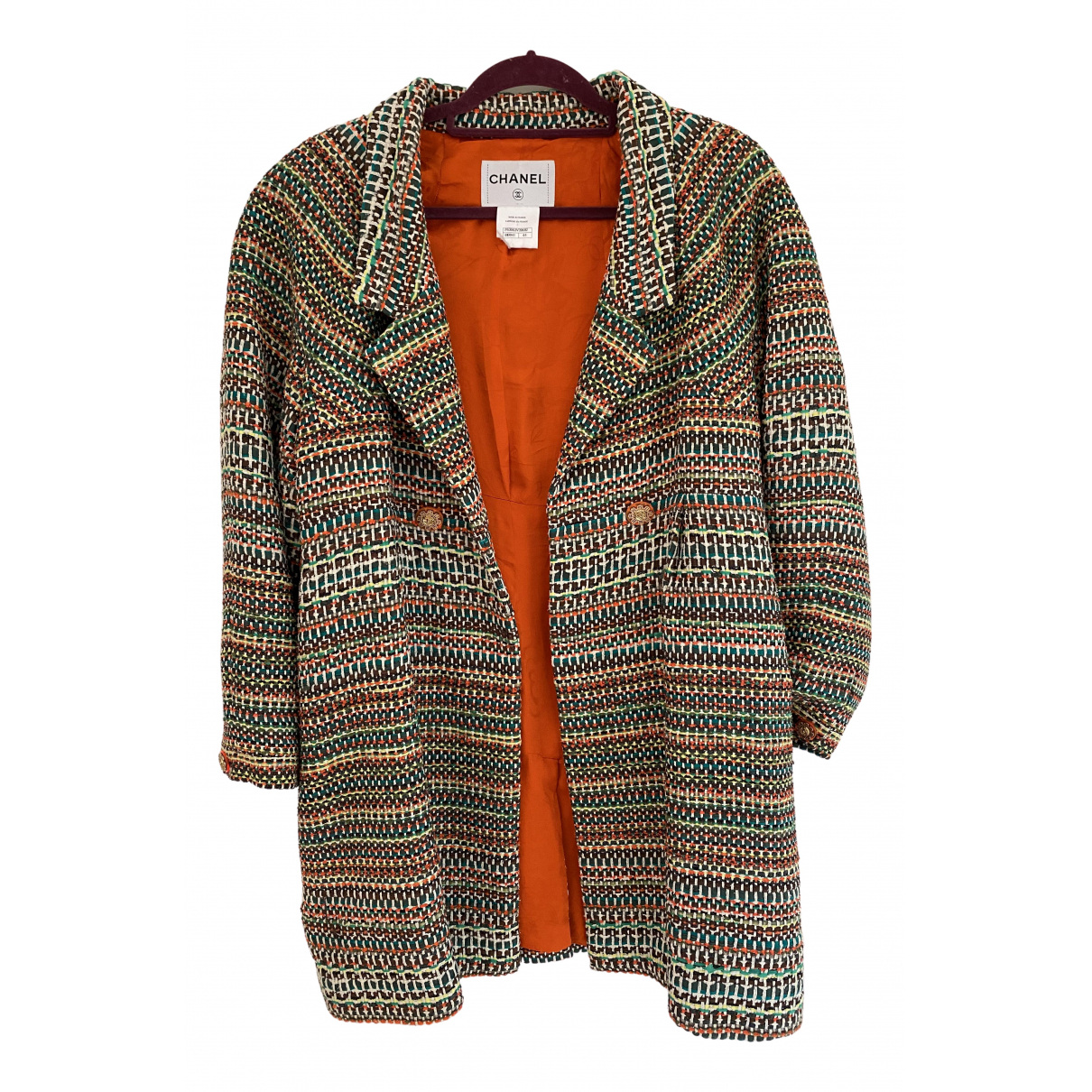 Chanel \N Multicolour Tweed coat for Women 44 FR
