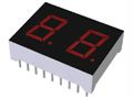 ROHM LB-402VD  2 Digit LED LED Display, CA Red 16 mcd RH DP 10.2mm (2)