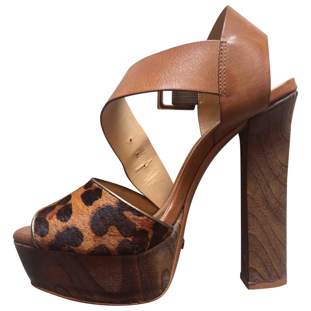 Schutz - Sandales   pour femme en cuir - camel