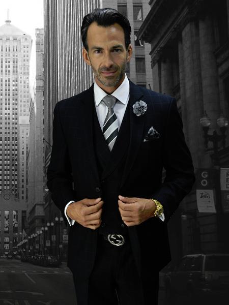 BLACK Statement Plaid Suit
