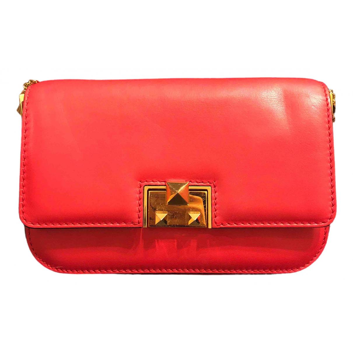 Valentino Garavani \N Handtasche in  Rot Leder
