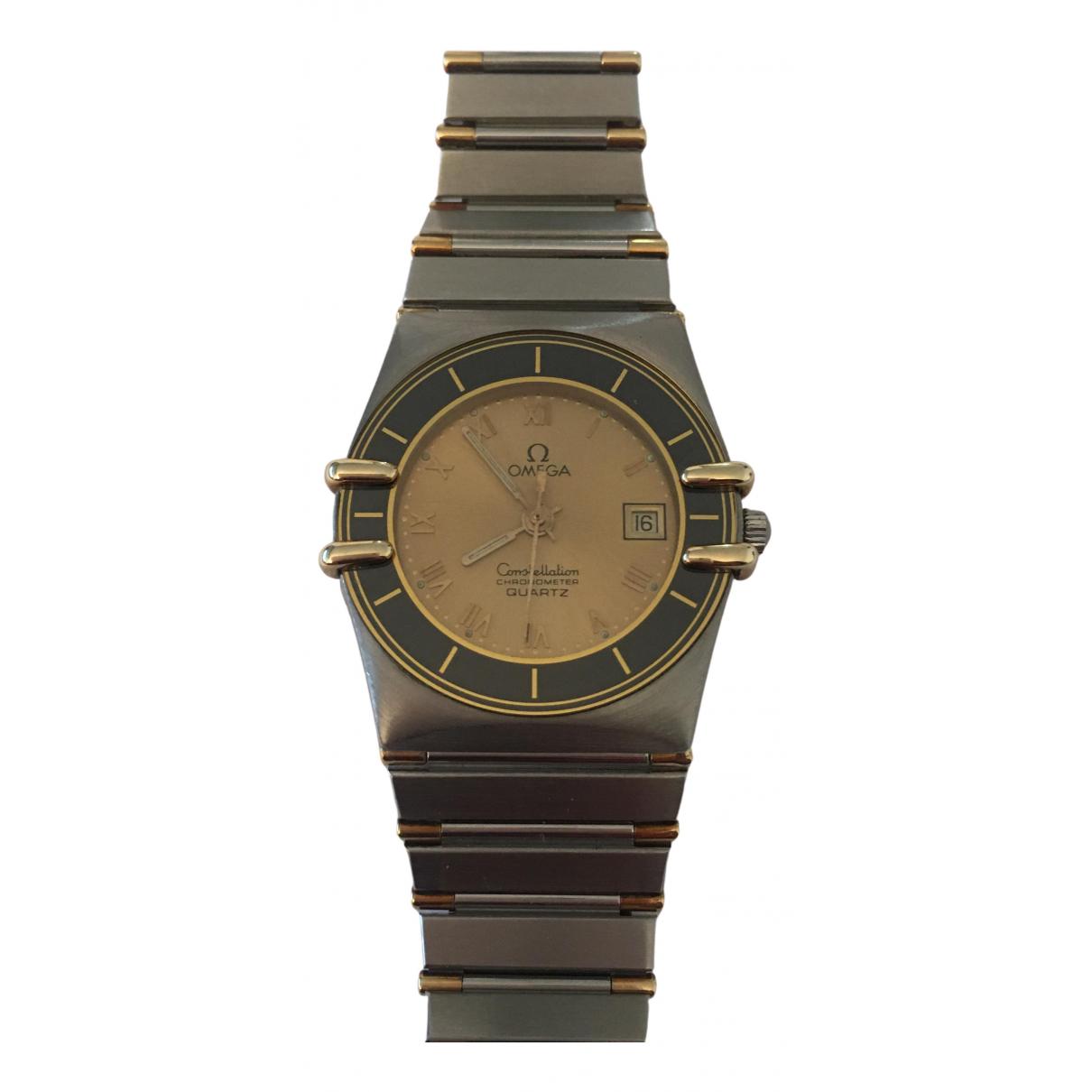 Omega - Montre Constellation pour femme en plaque or - argente