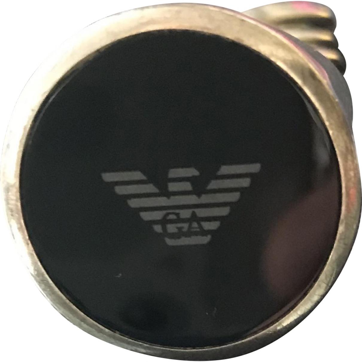 Emporio Armani - Bague   pour femme en metal - argente