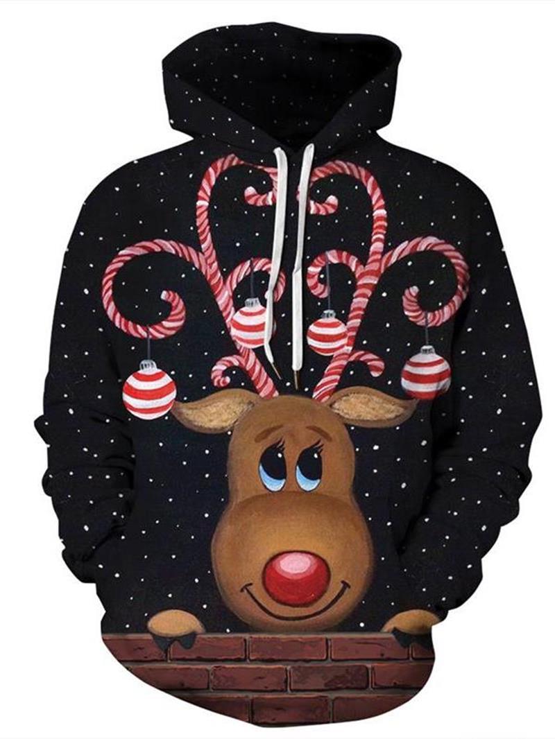 Ericdress Pullover Animal 3D Loose Mens Hoodies