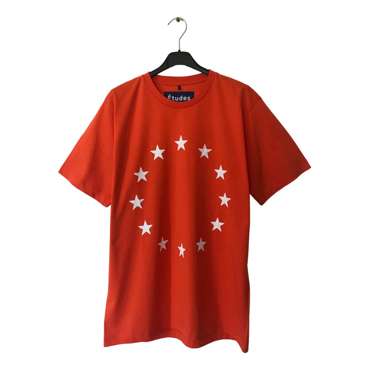 Etudes Studio - Tee shirts   pour homme en coton - orange