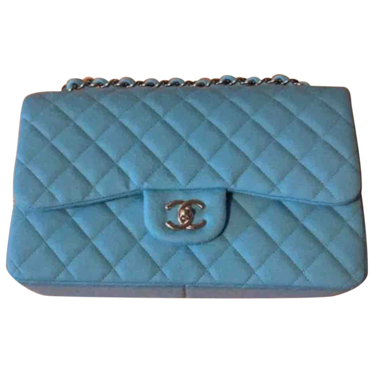 Chanel Timeless/Classique Blue Wool handbag for Women N