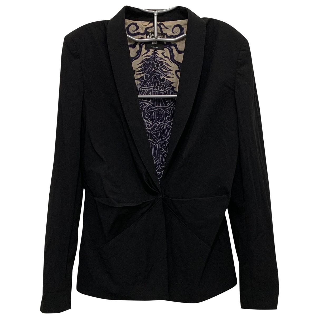 Jean Paul Gaultier \N Black Wool jacket for Women 42 FR