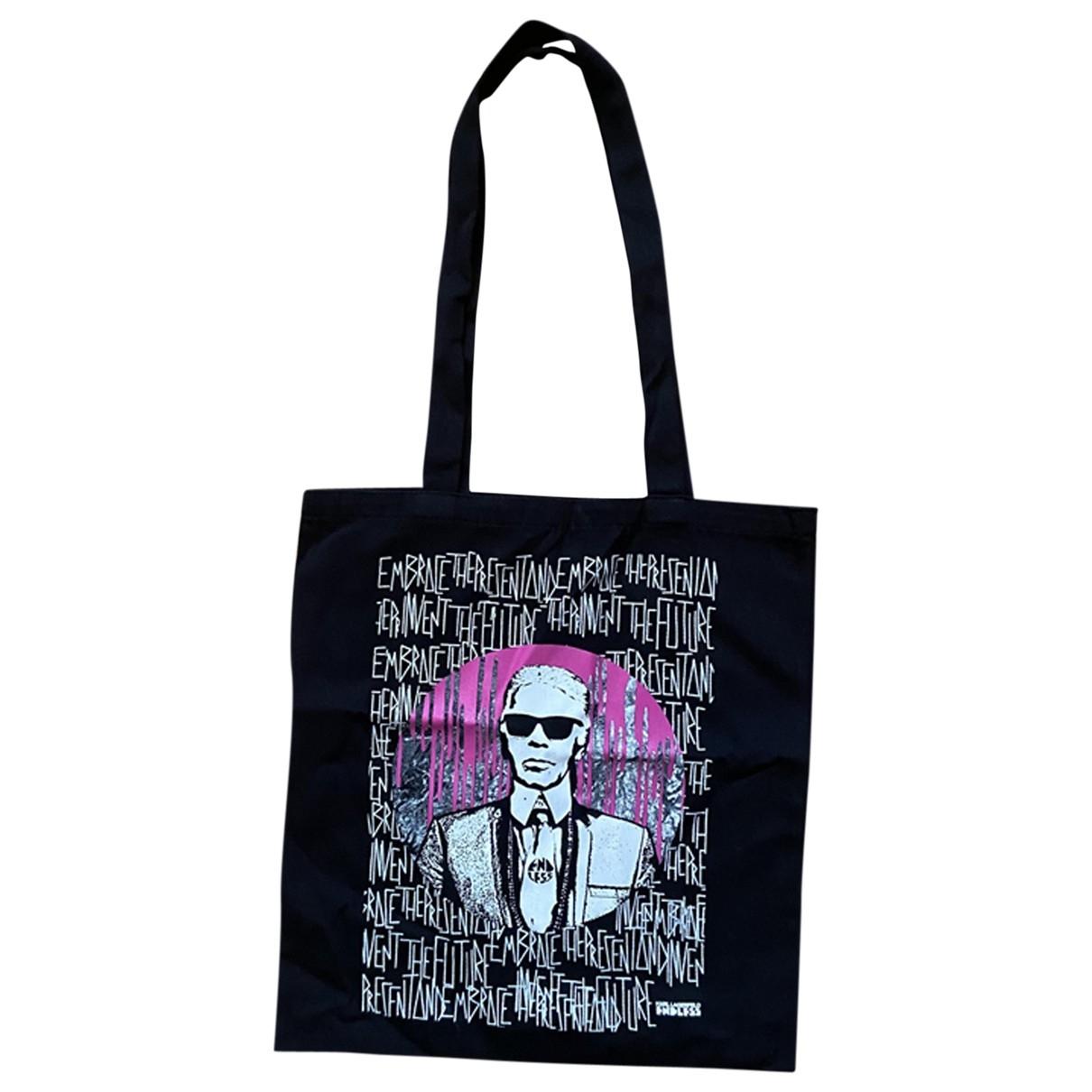 Bolso de mano en Algodon Negro Karl Lagerfeld