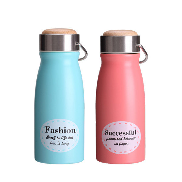 Stainless Steel Thermos Cup Candy Color Cute Pattern Thermos Cup