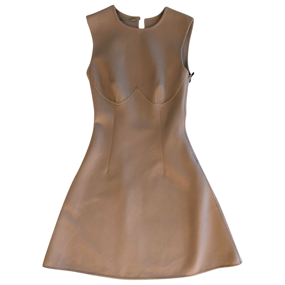 Ermanno Scervino \N Beige Wool dress for Women 40 IT