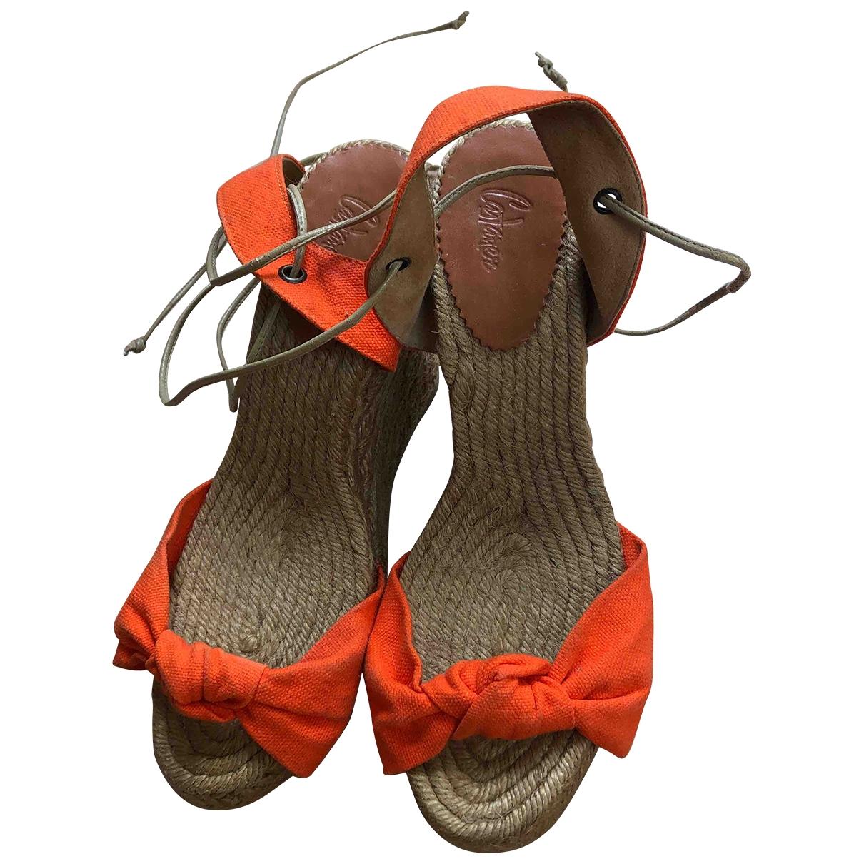 Castaner - Espadrilles   pour femme en toile - orange