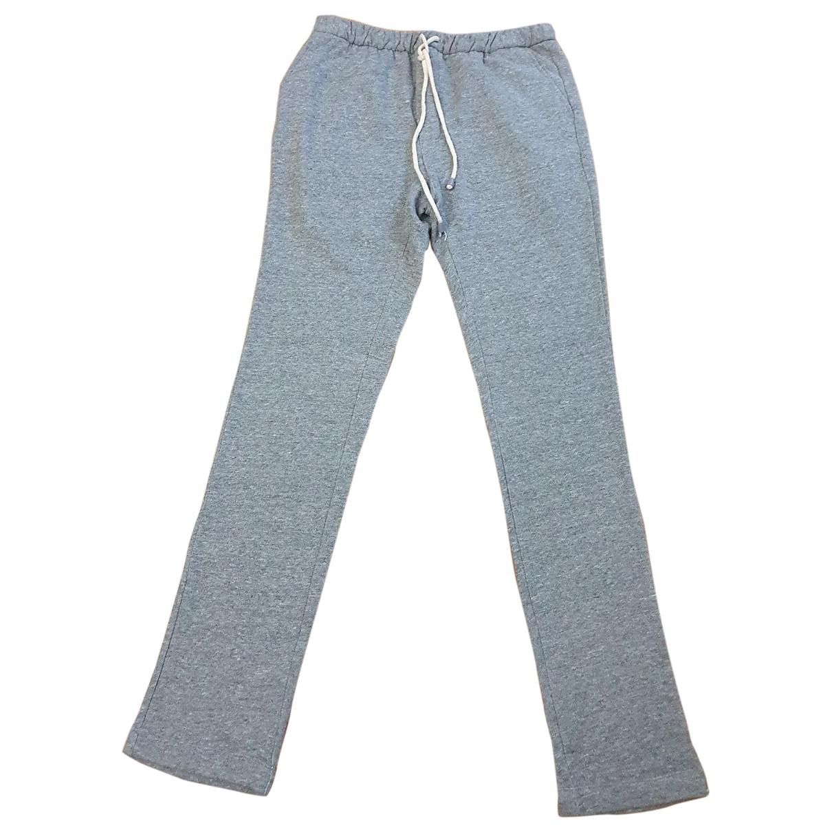 Adolfo Dominguez \N Grey Cotton Trousers for Men 44 IT
