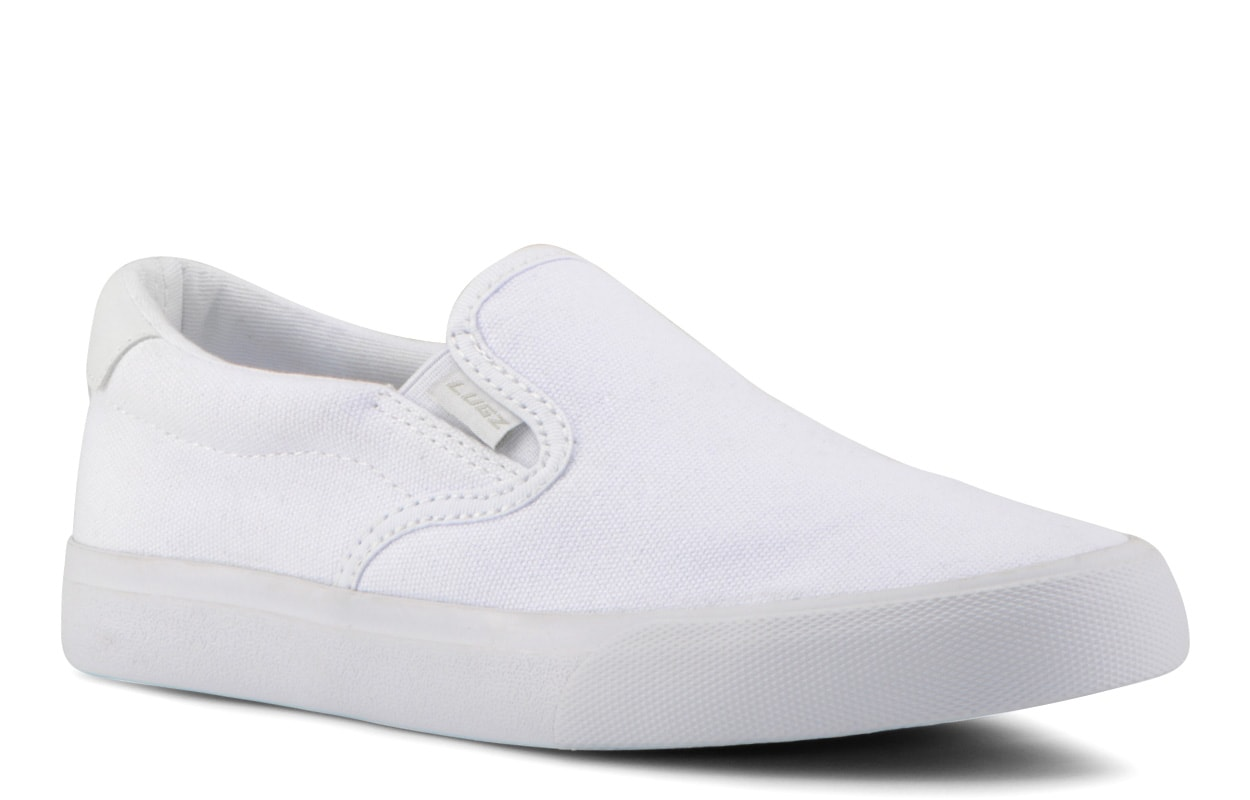 Women's Clipper Slip-On Sneaker (Choose Your Color: WHITE, Choose Your Size: 6.5)