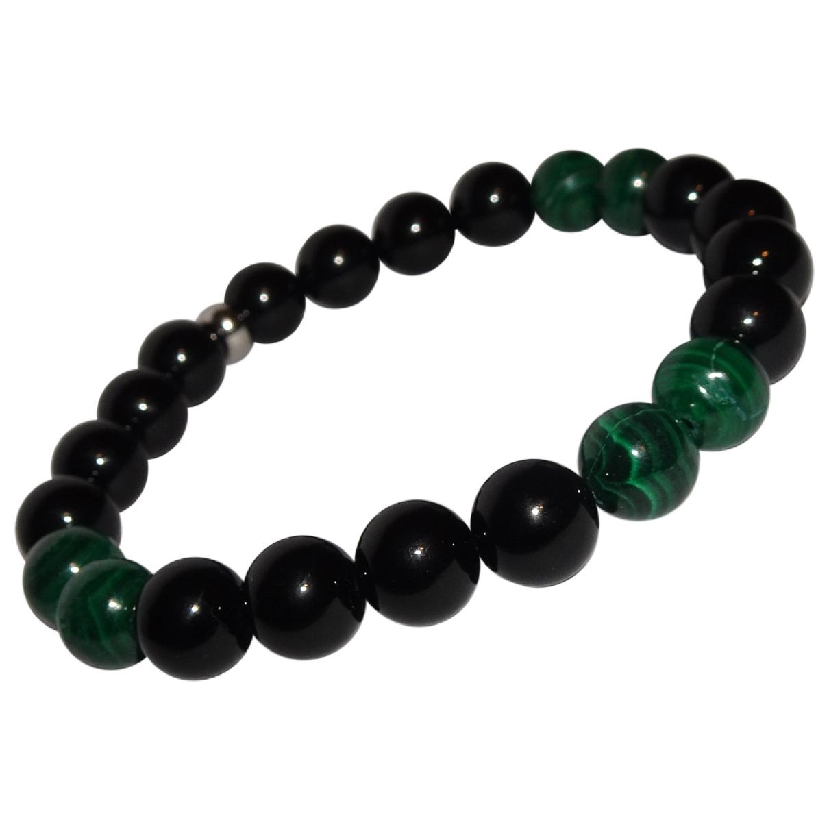 Non Signe / Unsigned \N Armband in  Gruen Perlen